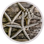 Sea Stars Round Beach Towel by Colleen Kammerer
