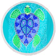 Sea Turtle Swim Round Beach Towel