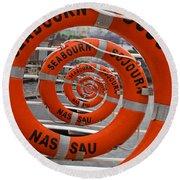Seabourn Sojourn Spiral. Round Beach Towel