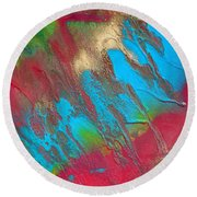 Seabreeze Abstract Painting Round Beach Towel