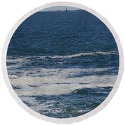 Seabreeze. Round Beach Towel by Robert Nickologianis