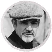 Sean Connery Round Beach Towel