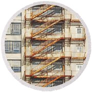Sears Crosstown Fire Escape Memphis Tn Round Beach Towel