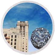 Sears Crosstown Memphis Round Beach Towel