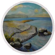 Seascape From Hamina 1 Round Beach Towel