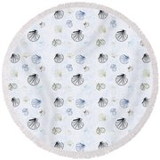 Seashell Pattern Round Beach Towel