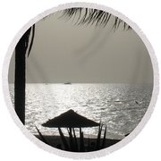 Seaside Dinner For Two Round Beach Towel by Patti Whitten