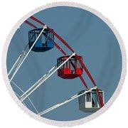 Seaside's Ferris Wheel Round Beach Towel
