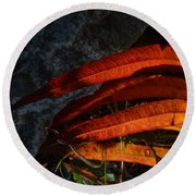 Seasonal Color Theory Round Beach Towel