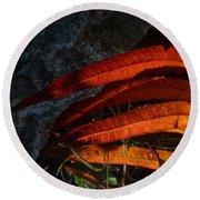 Seasonal Color Theory Round Beach Towel by Brian Boyle