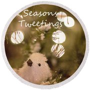 Seasons Tweetings Round Beach Towel
