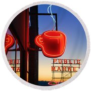 Seattle Coffee Round Beach Towel