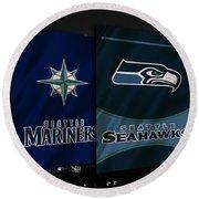 Seattle Sports Teams Round Beach Towel