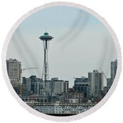 Seattle Washington Round Beach Towel