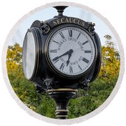 Secaucus Clock Marras Drugs Round Beach Towel