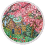 Secluded Home Round Beach Towel by Kendall Kessler