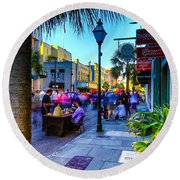 Second Sunday On King St. Charleston Sc Round Beach Towel