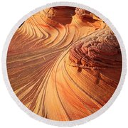 Second Wave Flow Round Beach Towel