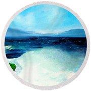 Secret Beach Surf Art Round Beach Towel