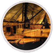 Round Beach Towel featuring the photograph Secret Catch by Dennis Baswell
