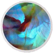 Secret Garden - Abstract Art Round Beach Towel