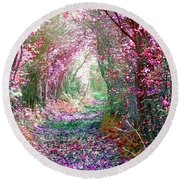 Round Beach Towel featuring the photograph Secret Garden by Vicki Spindler