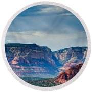 Sedona Arizona Panorama Round Beach Towel