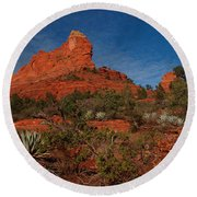Round Beach Towel featuring the photograph Sedona by James Peterson