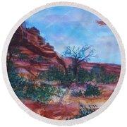 Sedona Red Rocks - Impression Of Bell Rock Round Beach Towel