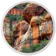 Sedona Stripes Round Beach Towel