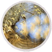 Seeds Of Peace -abstract Art Round Beach Towel