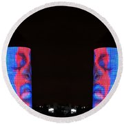 Round Beach Towel featuring the photograph Seeing Double by J Anthony