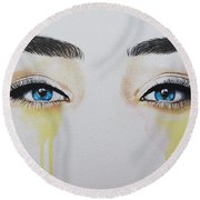 Seeing Into The Soul Secretive Round Beach Towel