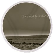 Seek And Find Round Beach Towel