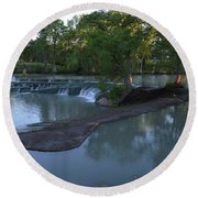 Seguin Tx 01 Round Beach Towel by Shawn Marlow