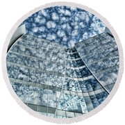Round Beach Towel featuring the photograph Seidman Cancer Center - Cleveland Ohio - 1 by Mark Madere