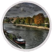 Seine Study Number One Round Beach Towel