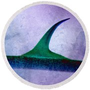 Round Beach Towel featuring the photograph Self Defense by WB Johnston