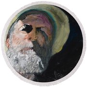 Round Beach Towel featuring the painting Self Portrait  by Brian Boyle