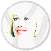 The Strength Within Me Round Beach Towel