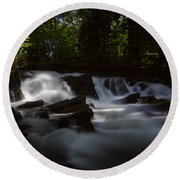 Round Beach Towel featuring the photograph Selkefall, Harz by Andreas Levi