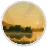 Seminole Sunset Round Beach Towel