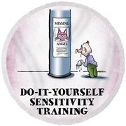 Sensitivity Training Round Beach Towel