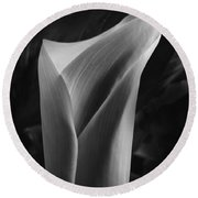 Sensuous Calla Round Beach Towel