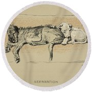 Separation, 1930, 1st Edition Round Beach Towel