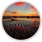 Round Beach Towel featuring the photograph September Brilliance by Dianne Cowen