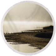 September Morning Round Beach Towel