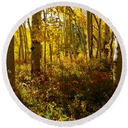 September Scene Round Beach Towel