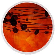 Sequence And Wire Round Beach Towel