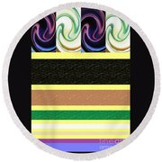 Sequence Round Beach Towel